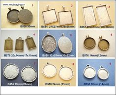 Samples of 9pcs Cameos Base/ Pendant Antiqued Pewter by yooounique, $9.75