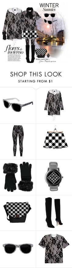 """New Winter Sunnies"" by elena-indolfi ❤ liked on Polyvore featuring Forever 21, Jimmy Choo and Lacoste"