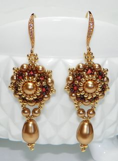 Sunday Best Hand Beaded Earrings