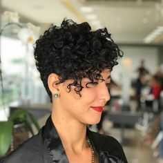 Short Pixie Haircuts for Curly Hair In 2020 Curly Pixie Haircut 45 New Best Short Curly Of 97 Awesome Short Pixie Haircuts for Curly Hair In 2020 Curly Pixie Hairstyles, Haircuts For Curly Hair, Short Pixie Haircuts, Curly Hair Cuts, Girl Haircuts, Short Hair Cuts, Curly Hair Styles, Hairstyles 2018, Short Permed Hair