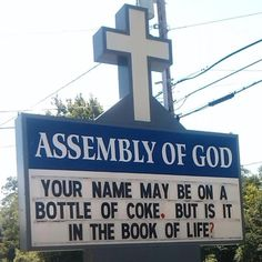 Your name may be on a bottle of coke, but is it in the book of life?