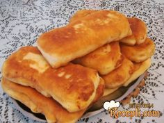 Bread Recipes, Snack Recipes, Dessert Recipes, Snacks, Desserts, Kiflice Recipe, Bread Dough Recipe, Serbian Recipes, Cake Cookies