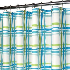 Park B. Smith® Wavy Plaid Blue 72 x 72 WaterShed® Shower Curtain