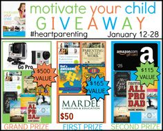 Motivate Your Child Book Launch: 3 Winners & $780 in Prizes! - Proverbial Homemaker