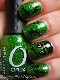 Fankenstein nail art