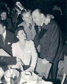 Judy Garland and mickey rooney  David rose and bandleader Paul Whiteman