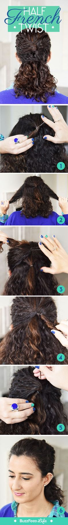 Half French Twist | 14 Wedding Hairstyles You Can DIY For The Occasion