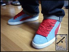 Puma Suede Blue/Red - Professor B