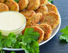 Veggie Nuggets with Vegan Honey Mustard Sauce