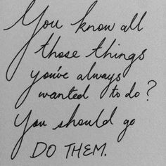 Three things you should do ..