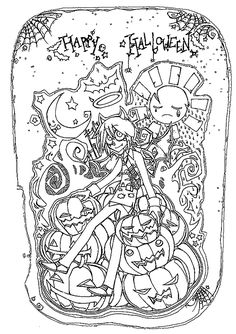 Halloween Adult Coloring Pages . 26 Awesome Halloween Adult Coloring Pages . Coloring Halloween Adult Coloring Pages Marque Best Page Od Scary Halloween Coloring Pages, Halloween Coloring Pictures, Halloween Coloring Pages Printable, Toy Story Coloring Pages, Unique Coloring Pages, Coloring Pictures For Kids, Pumpkin Coloring Pages, Princess Coloring Pages, Animal Coloring Pages