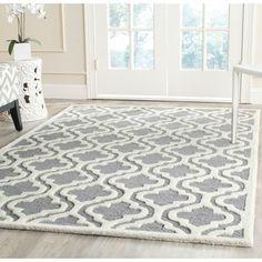 Safavieh Handmade Moroccan Cambridge Silver Wool Rug (6' x 9') | Overstock™ Shopping - Great Deals on Safavieh 5x8 - 6x9 Rugs