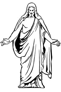 jesus clip art black and white free clipart images 3 2 clipartcow rh pinterest com jesus clipart images black and white jesus resurrection clipart free