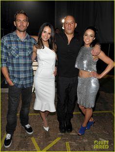 Paul Walker, Jordana Brewster, Vin Diesel and Michelle Rodriguez 2013 MTV Movie Awards