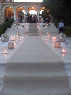 #wedding #decoration #church #outdoor #aisle Wedding Stage, Greek Wedding, Glamorous Wedding, Trendy Wedding, Wedding Picture Frames, Church Wedding Decorations, Kirchen, Georgia, Reception