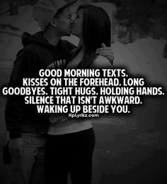 Kisses on the forehead. Waking up beside you in the morning after we get married. Relationships Love, Relationship Quotes, Tight Hug, I Love My Hubby, Stupid Love, Gentleman Quotes, Good Morning Texts, Love Is Everything, True Love Quotes