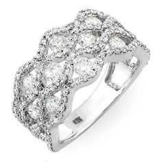 2.00 Carat (ctw) 14k White Gold Round Diamond Ladies Cocktail Right Hand Ring DazzlingRock Collection. $1299.00. Weighs approximately 5.00 grams. Gemstone : Diamond. Crafted in 14K white-gold. Diamond Color / Clarity : H-I / I1-I2. Diamond Weight : 2.00 ct tw.
