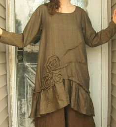 Rose Pintuck Tunic Dress by sarahclemensclothing on Etsy, $149.00