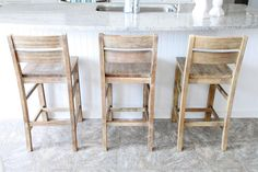 Realize Your Comfort Seating Using Cheap Bar Stools: amazing diy cheap barstools with backrest and kitchen island also tile flooring