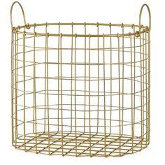 Decorative Gold Wire Bin - Room Essentials™ : Target