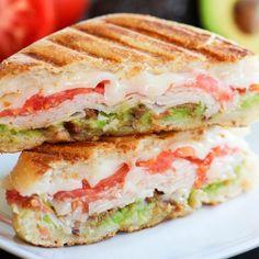 """Turkey, Bacon, and Avocado Panini by @highheelsandgrills BLOG: www.highheelsandgrills.com Makes 1 Sandwich Ingredients: 1 Ciabatta Sandwich Roll 2…"""