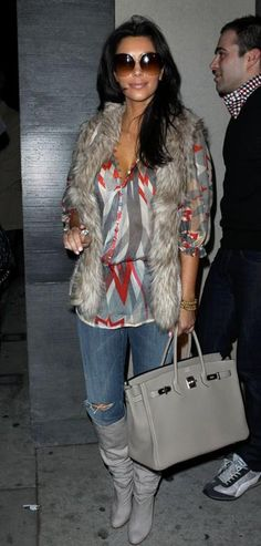 Purse - Hermes Vest - H & M Shoes - Christian Louboutin Sunglasses - Dita Wonderlust