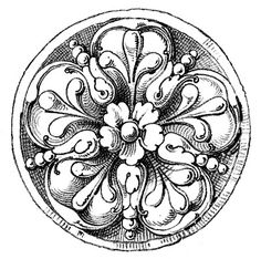 Medallion Ornaments from an Antique Ornamental Design Book