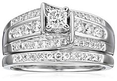 "Kobelli ""Je T'aime"" Round Diamond Wedding Ring Set, (1 cttw, H-I Color, I1-I2 Clarity), Size 7 Kobelli http://www.amazon.com/dp/B004XE0A6S/ref=cm_sw_r_pi_dp_yfpfvb1DWY6DP"