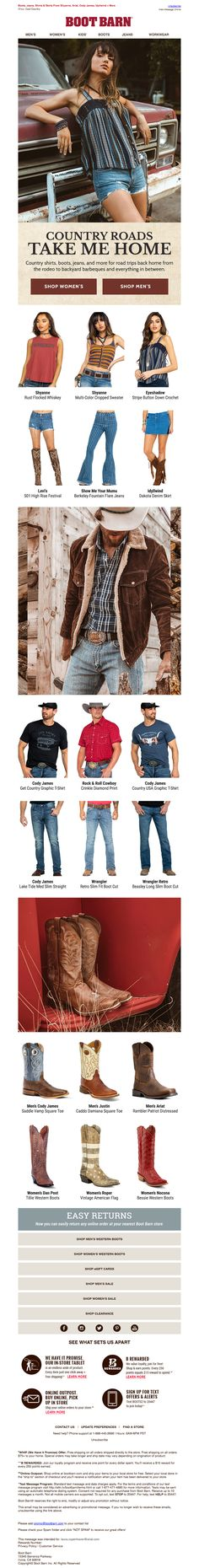 bootbarn2 Email Design Inspiration, Email Newsletters, Take Me Home, Collection, Shopping