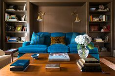 One of the best ways to add a statement to your living room is by incorporating a colorful sofa. Browse this collection of stylish spaces from Dering Hall designers that opted out of a neutral and went for a sofa that pops. Luxury Interior Design, Interior Design Services, Interior Design Kitchen, Sofa Inspiration, Sofa Colors, Living Room Designs, Living Rooms, Bobby Hull, Chic