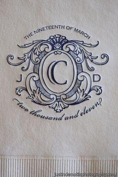 Monogram wedding napkins