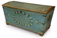 Swedish wedding chest 1809!! Just look at all that incredible attention to detail!