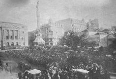 Posse do novo presidente da Província de São Paulo, Julio Prestes, no Palácio do Governo (atual Pátio do Colégio). 17/07/1927