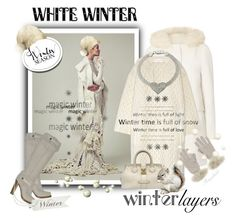 """""""Winter White"""" by ragnh-mjos ❤ liked on Polyvore featuring Whiteley, Dorothy Perkins, Chloé, Louis Vuitton, Casadei, Icz Stonez and Samantha Holmes"""