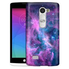 Amazon.com: LG Leon Case, Slim Snap On Cover Nebula Green Orange Case: Cell Phones & Accessories