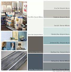 popular blue/gray paint samples
