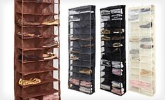Groupon - $ 21 for an Over-the-Door Shoe Organizer in Black, Chocolate, Cream, or Gray ($ 50 List Price). Free Shipping and Returns. in Online Deal. Groupon deal price: $21.00