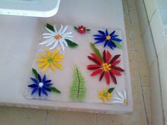 Fused Glass Garden Dishes  What a FANTASTIC day!!!!  A friend and I attended a fused glass class today and here is the beginning of our c...