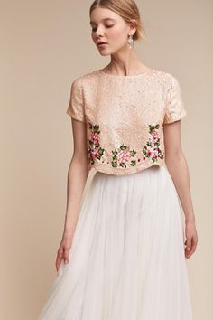 blush sparkle | Tahlia Top from BHLDN