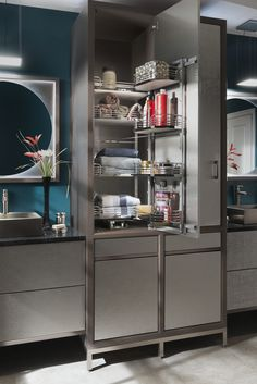 Passage Hammered Stainless Steel Vanity by #WoodMode.