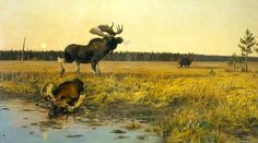 Featured artists at the 2020 Western Visions® Show and Sale the National Museum of Wildlife Art in Jackson, Wyoming. Nature Hunt, Wild Nature, Wildlife Paintings, Wildlife Art, Animal Painter, Hunting Art, Survival, Sports Art, Outdoor Art