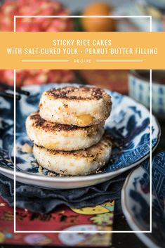 Warm and chewy glutinous rice cakes with a filling made from salt-cured yolk, peanut butter and maple syrup.  Perfect for a salty-sweet snack.
