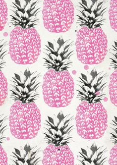 Pineapple print by Laine Fraser.