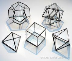 platonic solids in glass