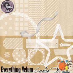 Everything Velum 1 (Downloadable Digital Item) $1.99 | Everything Velum 1  Downloadable Digital Item by CarolineBDesign