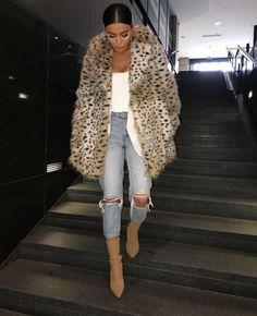 New Ideas For Fashion Nova Jeans Outfits Street Styles Fur Fashion, Fashion Killa, Look Fashion, Fashion Outfits, Womens Fashion, Jeans Fashion, Street Fashion, Fashion Ideas, Fashion Jewelry