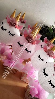 Unicorn centerpieces pastel colors / unicorn / centerpieces ...