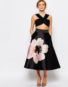 Image 1 ofCoast Rosanna Petal Full Midi Skirt