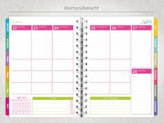 Wochenplaner - Jahresplaner 2015 - No. 27 - DIN-A5 - ein Designerstück von yumiedesign bei DaWanda
