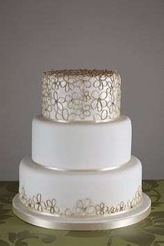 Contemporary Furniture Home Ideas: Contemporary Cake Designs Beautiful Wedding Cakes, Gorgeous Cakes, 50th Wedding Anniversary Cakes, 50th Cake, Wedding Cake Designs, Cake Wedding, Elegant Cakes, Occasion Cakes, Fancy Cakes